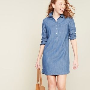 Old Navy longsleeve chambray shirt dress